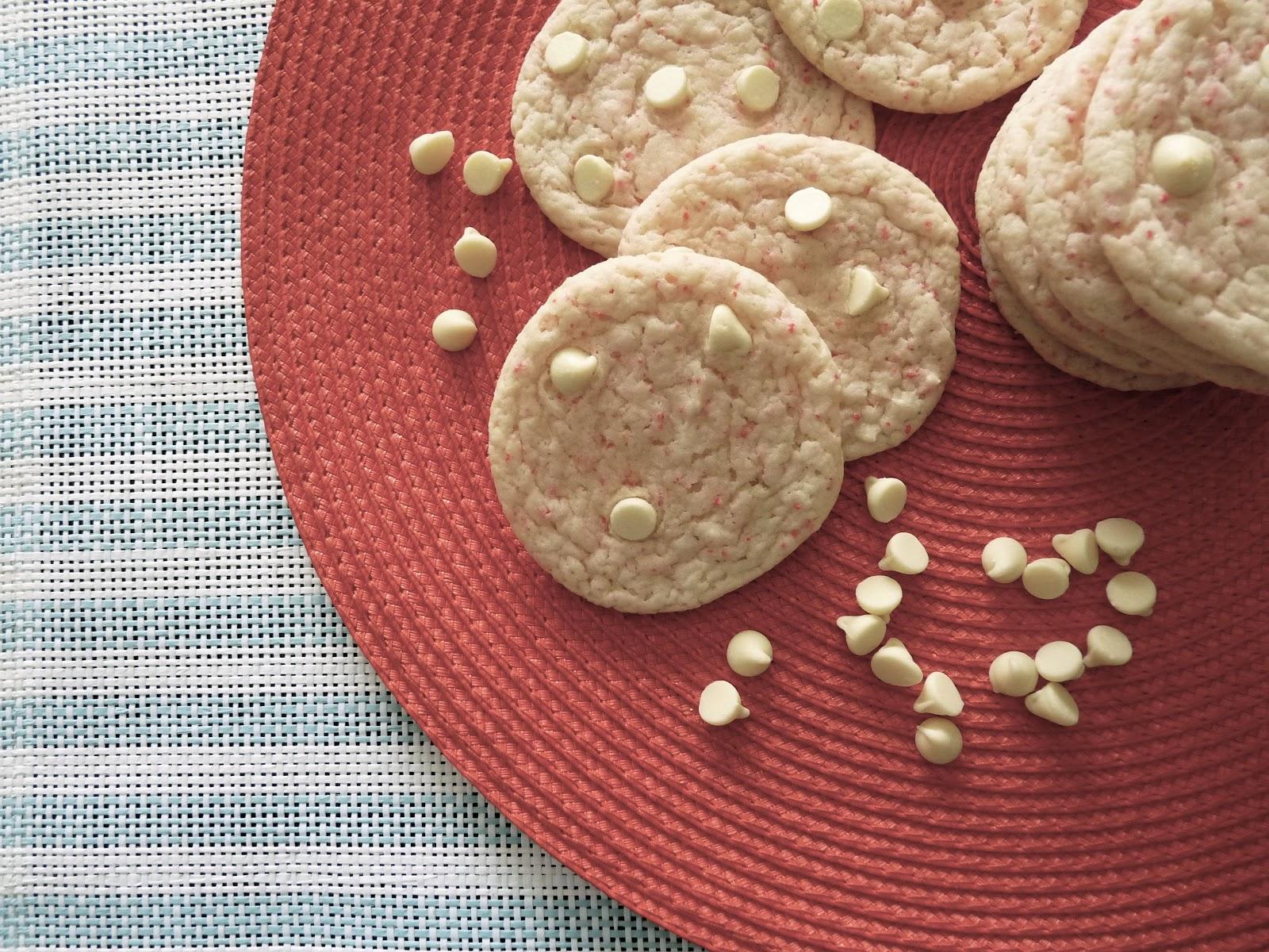 White Chocolate & Cherry Chip Cookies