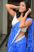 Bindhu latest sizzling saree pics-thumbnail-15