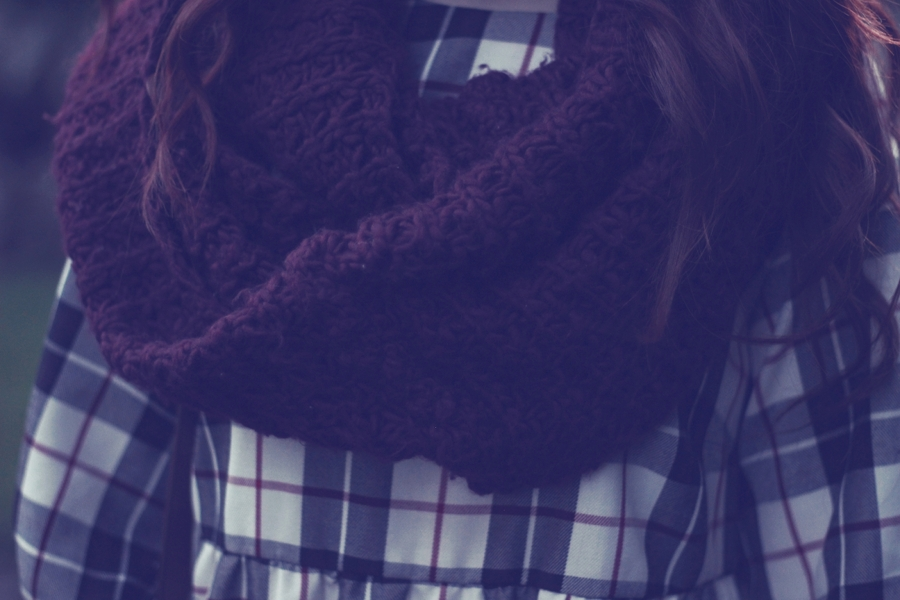 Maroon Circle Scarf Snood
