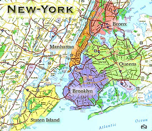New york city the largest city in the united states located on the
