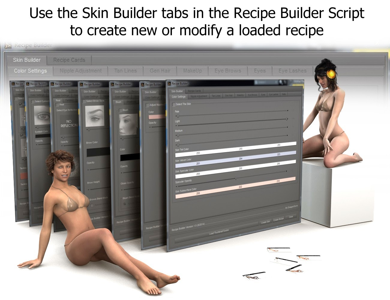 3d Models - Save and Share for Skin Builder