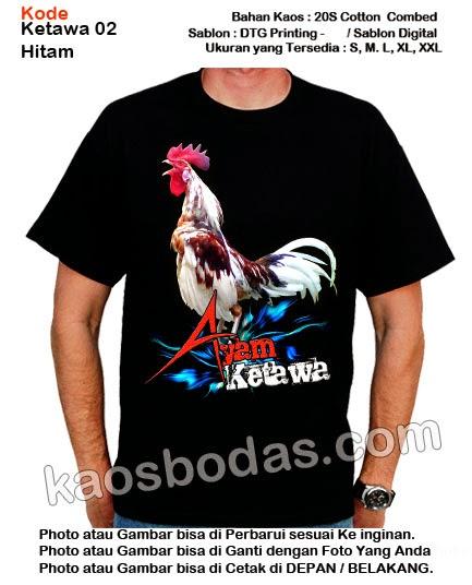 Kaos Ayam Ketawa 02 - Hitam