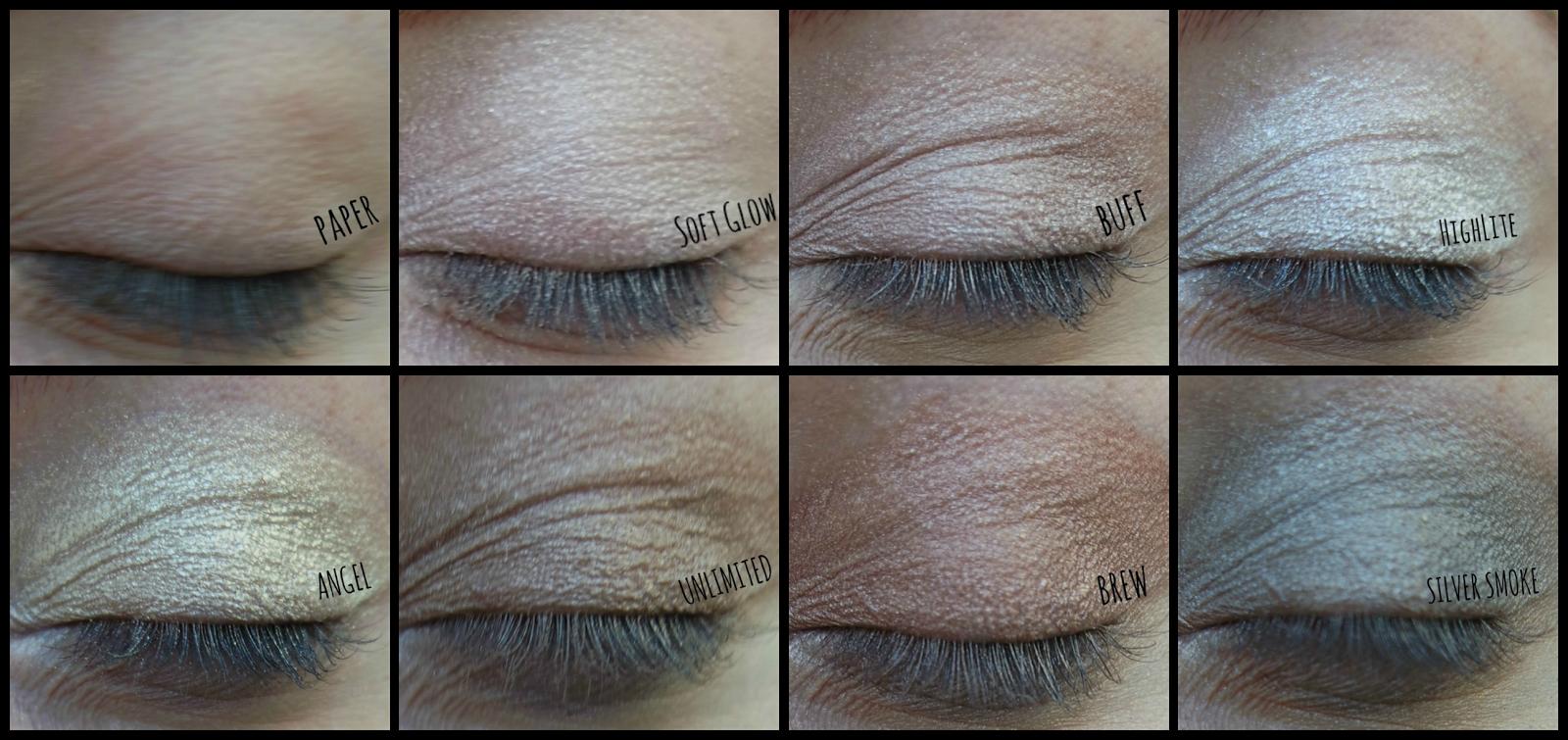 Makeup Revolution 32 Ultra Eyeshadows Flawless Palette Swatches on http://emandhanxo.blogspot.co.uk/