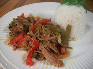 Shredded Meat Cuban Style (Ropa Vieja cubana)