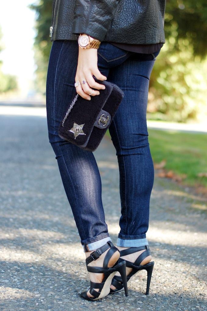 Dish indigo skinny jeans Vancouver blogger