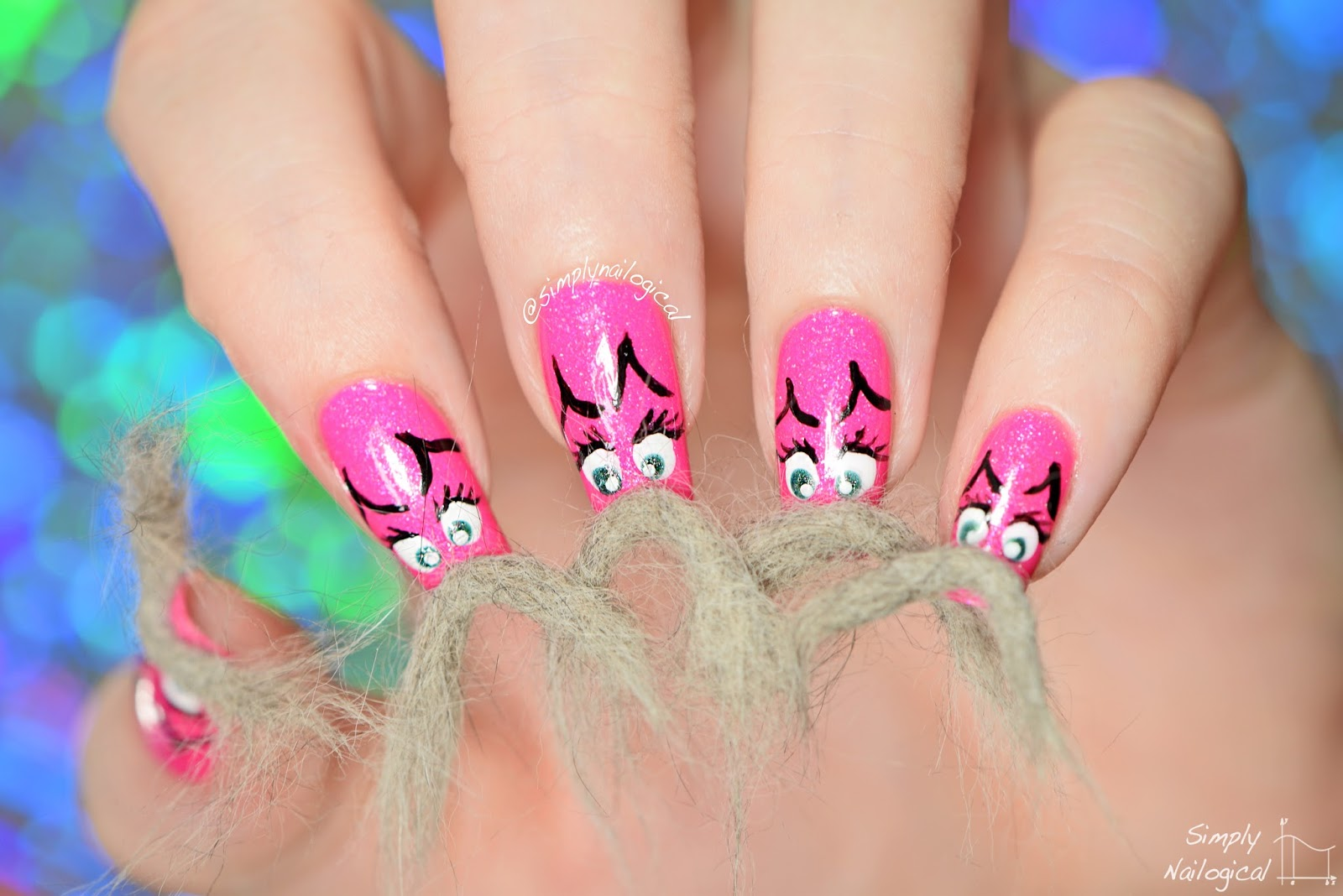 Simply Nailogical: Catstache real cat hair nails for Movember