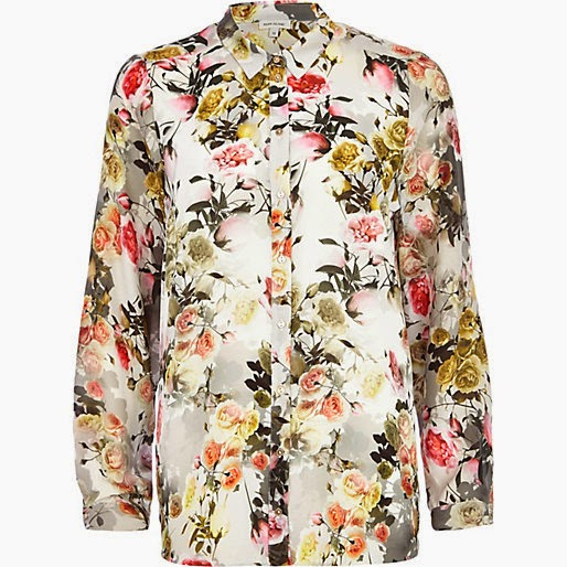 river island floral shirt