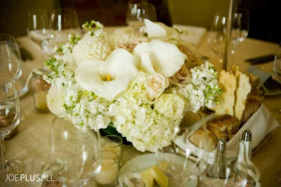 Fairmont Olympic Seattle wedding, white wedding flowers