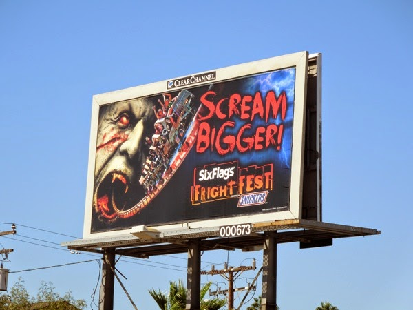Six Flags Fright Fest Scream Bigger billboard