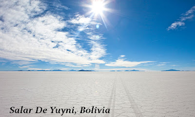 tourist attraction of salt lake in Salar De Yuyni