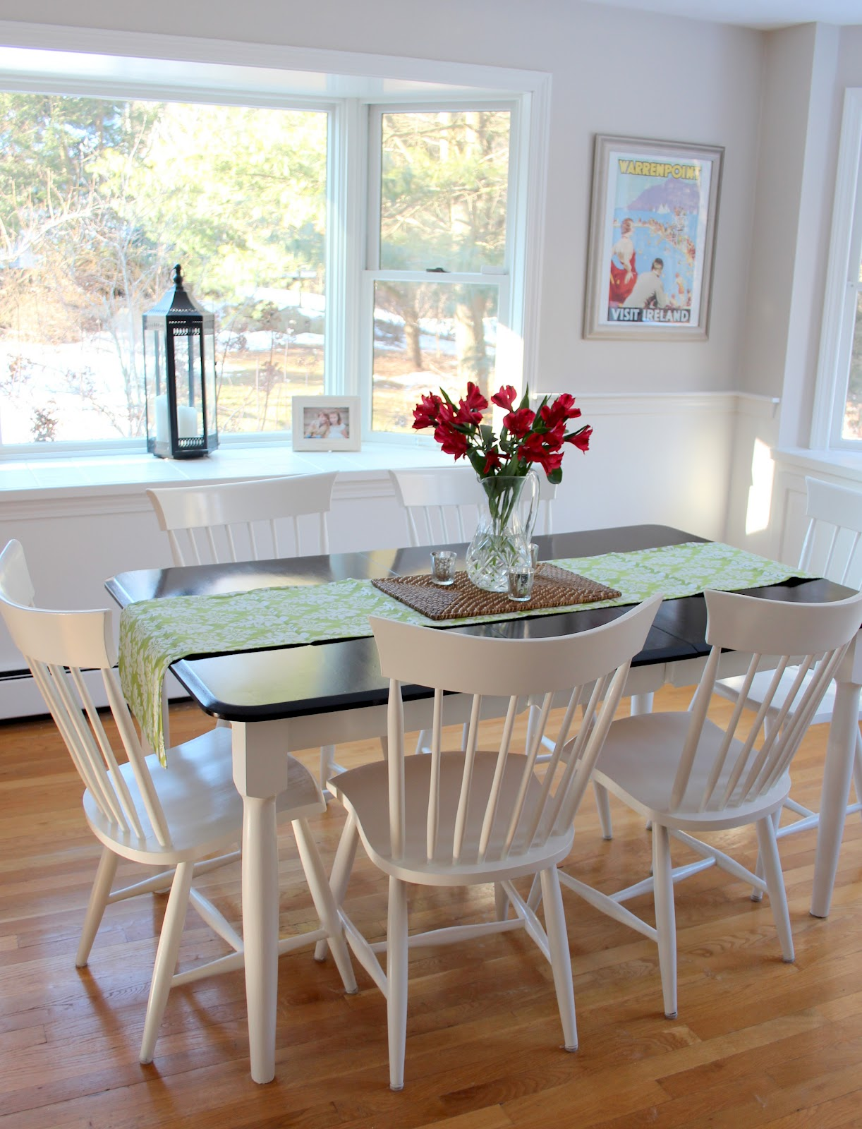 A kitchen table makeover shine your light - Kitchen table redo ...