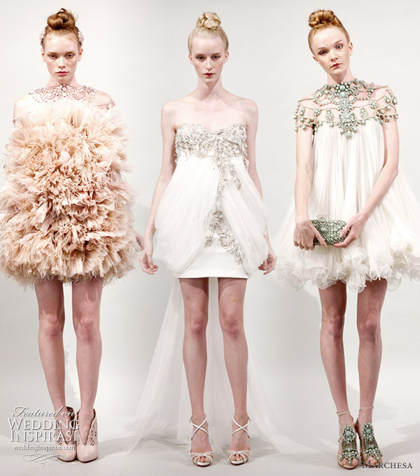 Marchesa Spring Summer 2011 Fantasy Wedding Dresses