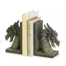 Fierce Dragon mystical Bookends