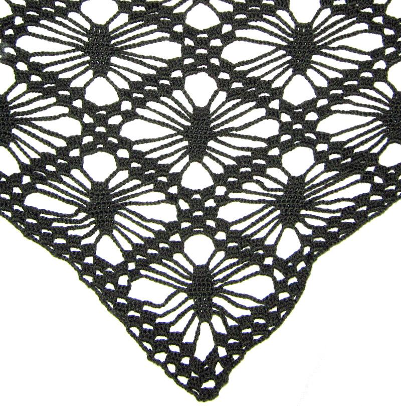 Las manuelidades: Chal verde - Crochet shawl