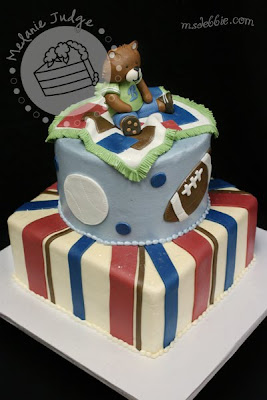 boy baby shower teddy bear cake