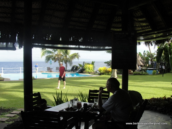 dining room at Paradise Taveuni in Fiji