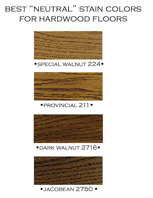 "here are my favorite ""neutral"" minwax stains, in order from dark to ..."