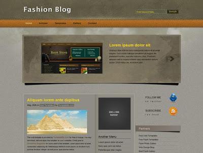 Template Fashion Blog