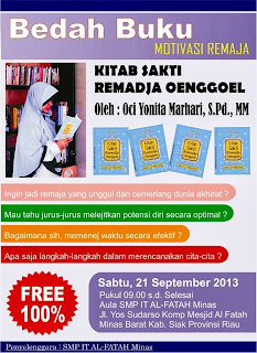 Kitab Sakti Remadja Oenggoel Goes To School (SMP IT Al-Fatah Minas)