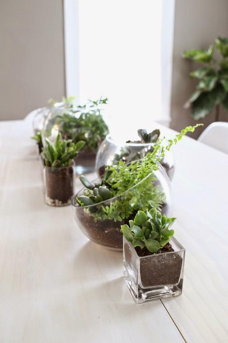 Petitecandela blog de decoraci n diy dise o y muchas for Centros de mesa con plantas naturales