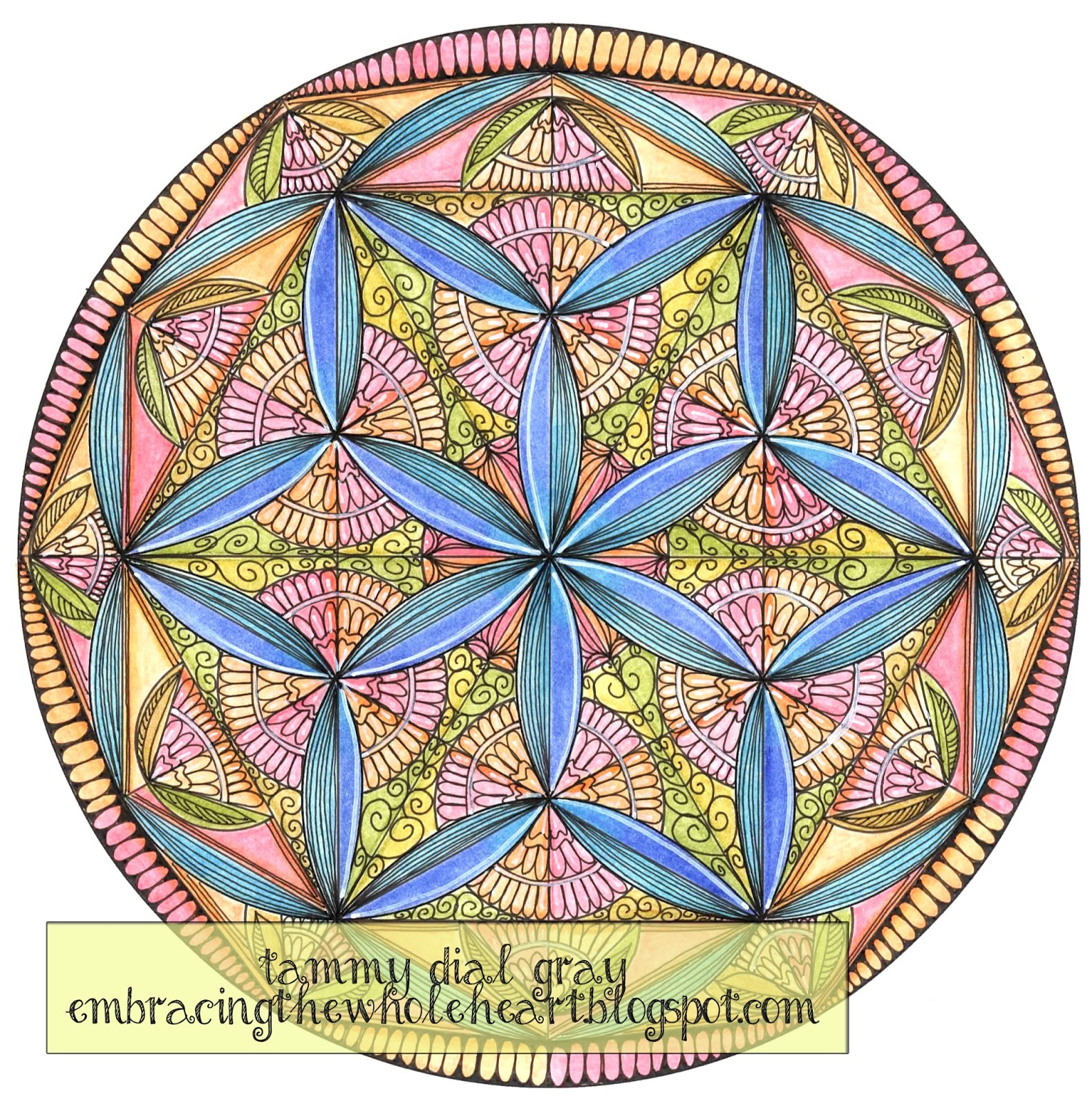 Embracing the Whole Heart Flower of Life Mandala