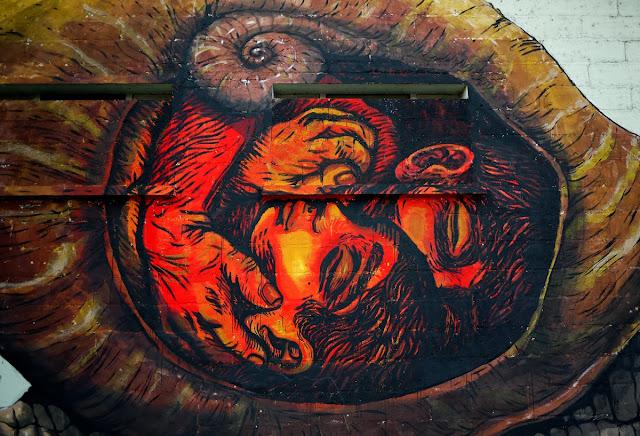 Street Art By Bastardilla and Ericailcane For Le 4eme Mur In Niort, France. 2