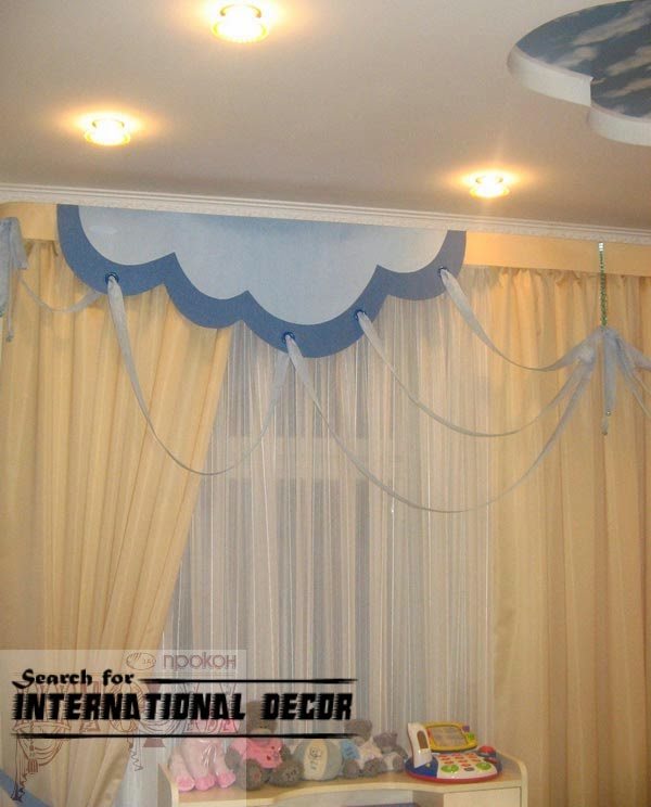 kids curtains, nursery curtains, yellow curtains
