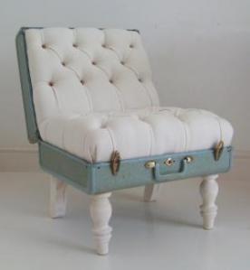 Maleta como sillón