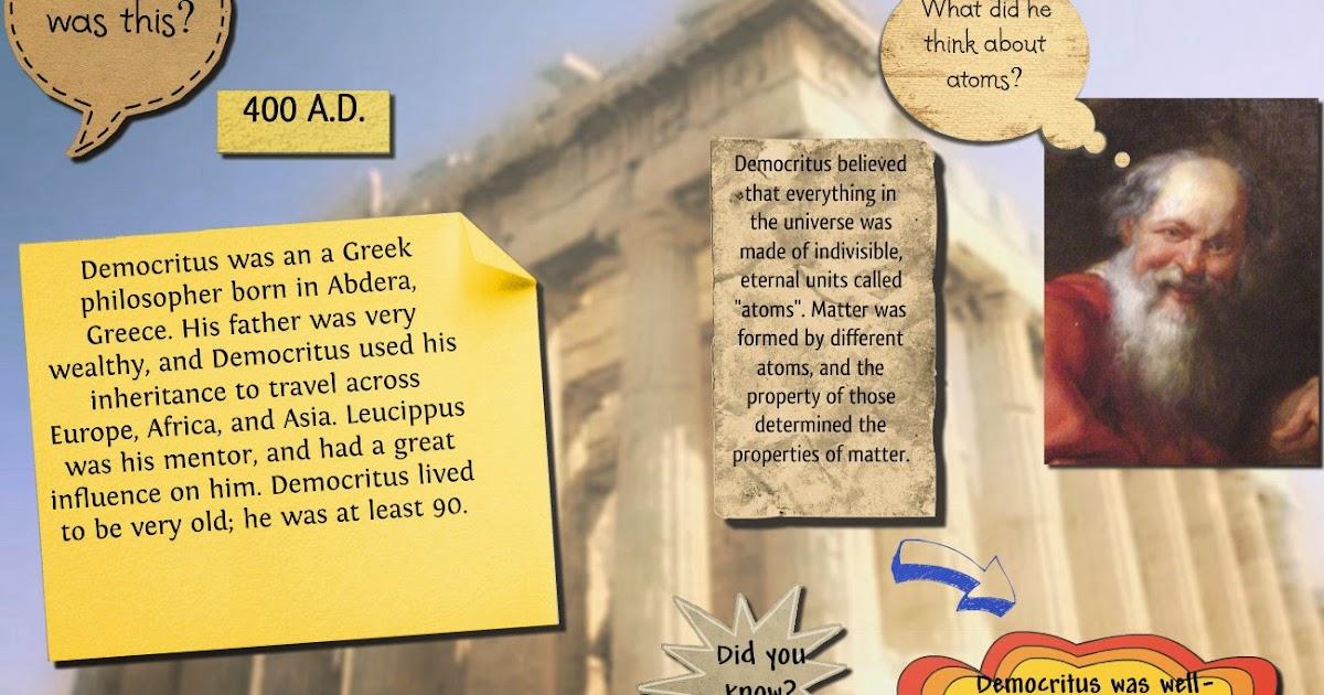 greek philosopher atom