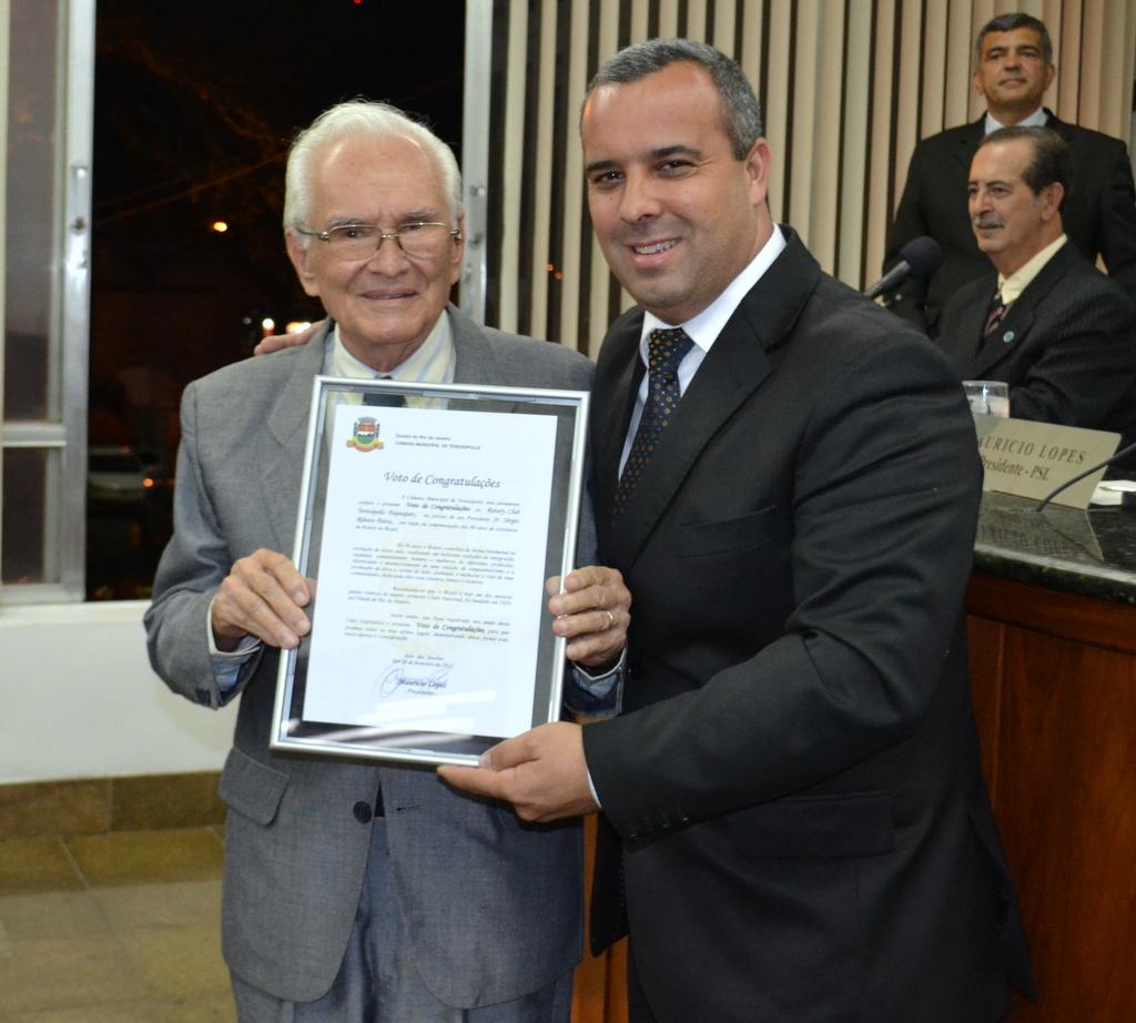 Presidente do Rotary Club Teresópolis Paquequer, Sérgio Paiva