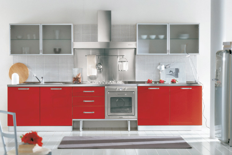 make your life colorful: WOW....MINIMALIS LUXURY RED KITCHENS