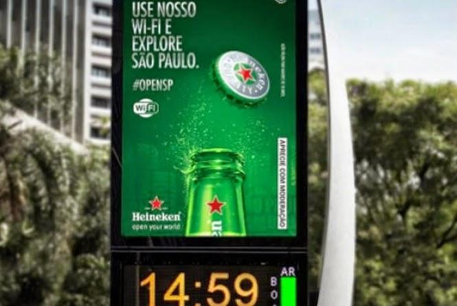Wi-Fi em relógios da cidade de São Paulo