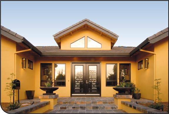 Orange Exterior House Paint Colors