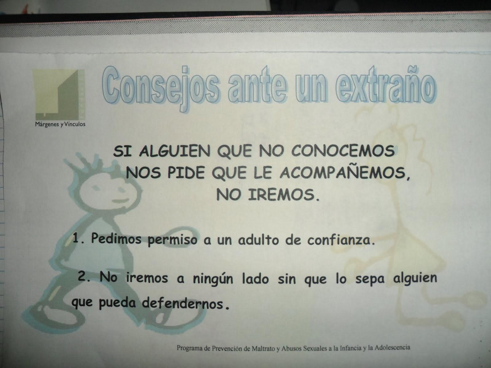 CONSEJOS ANTE UN EXTRAÑO