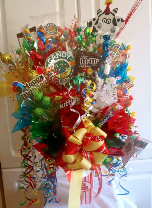 Candy bouquet it was a candy forest an explosion of amazing candy