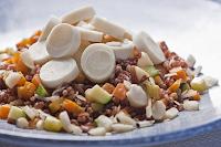 Salada de Arroz Vermelho (vegana)