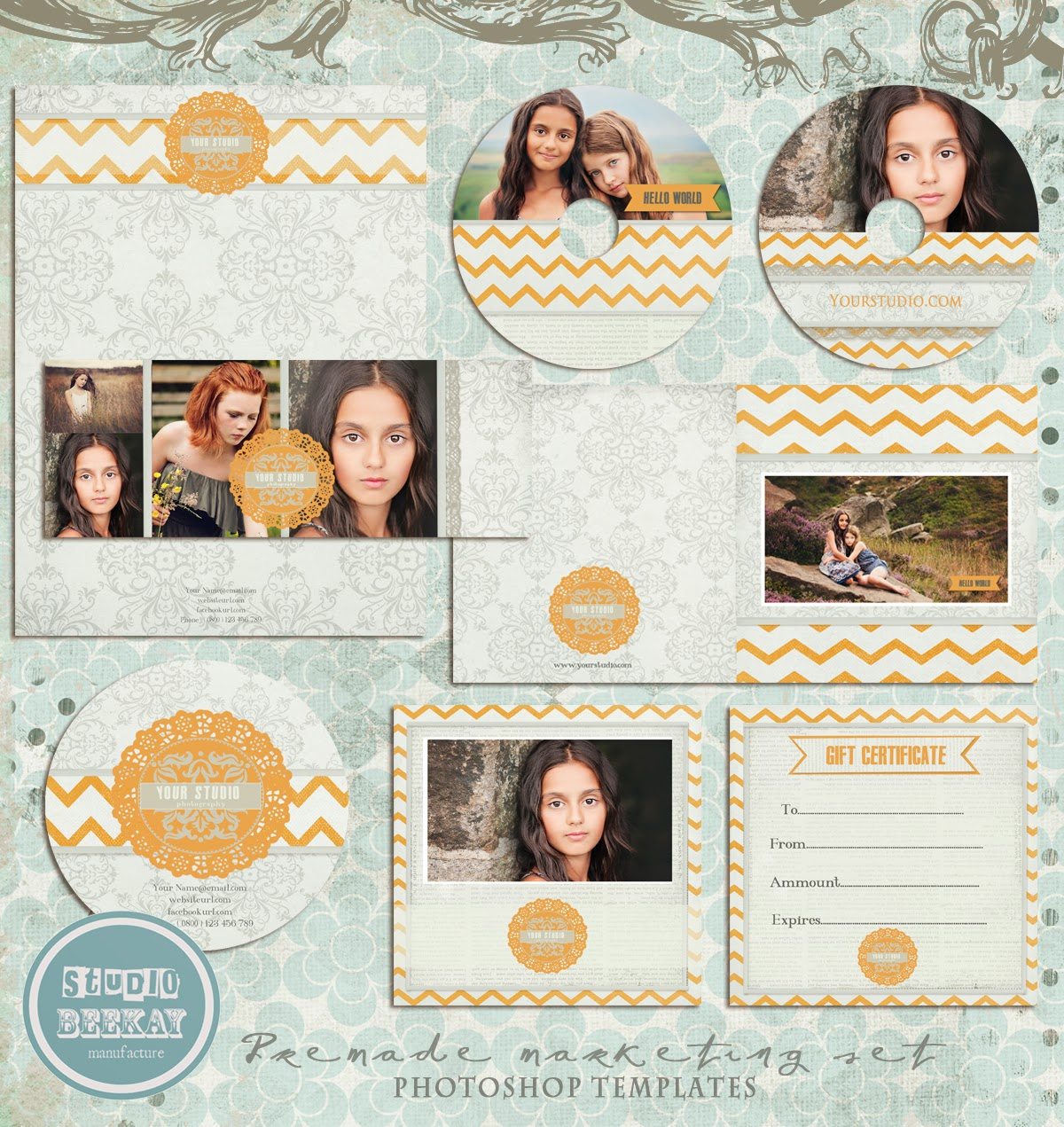 photoshop templates for pro photographers premade marketing set
