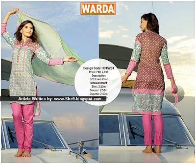 Warda Eid Lawn Catalog 2015