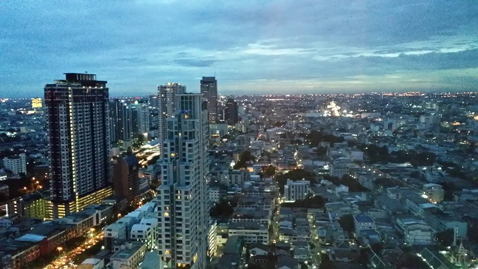 Bangkok evening from our hotel room