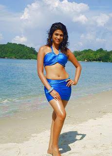 Shraddha Das Hot Pictures In Blue Bikini