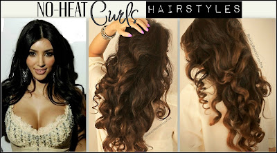 Kim+K+thumb2+marked Kim Kardashian Hairstyles, How to No Heat Curls | Hair Tutorial Video