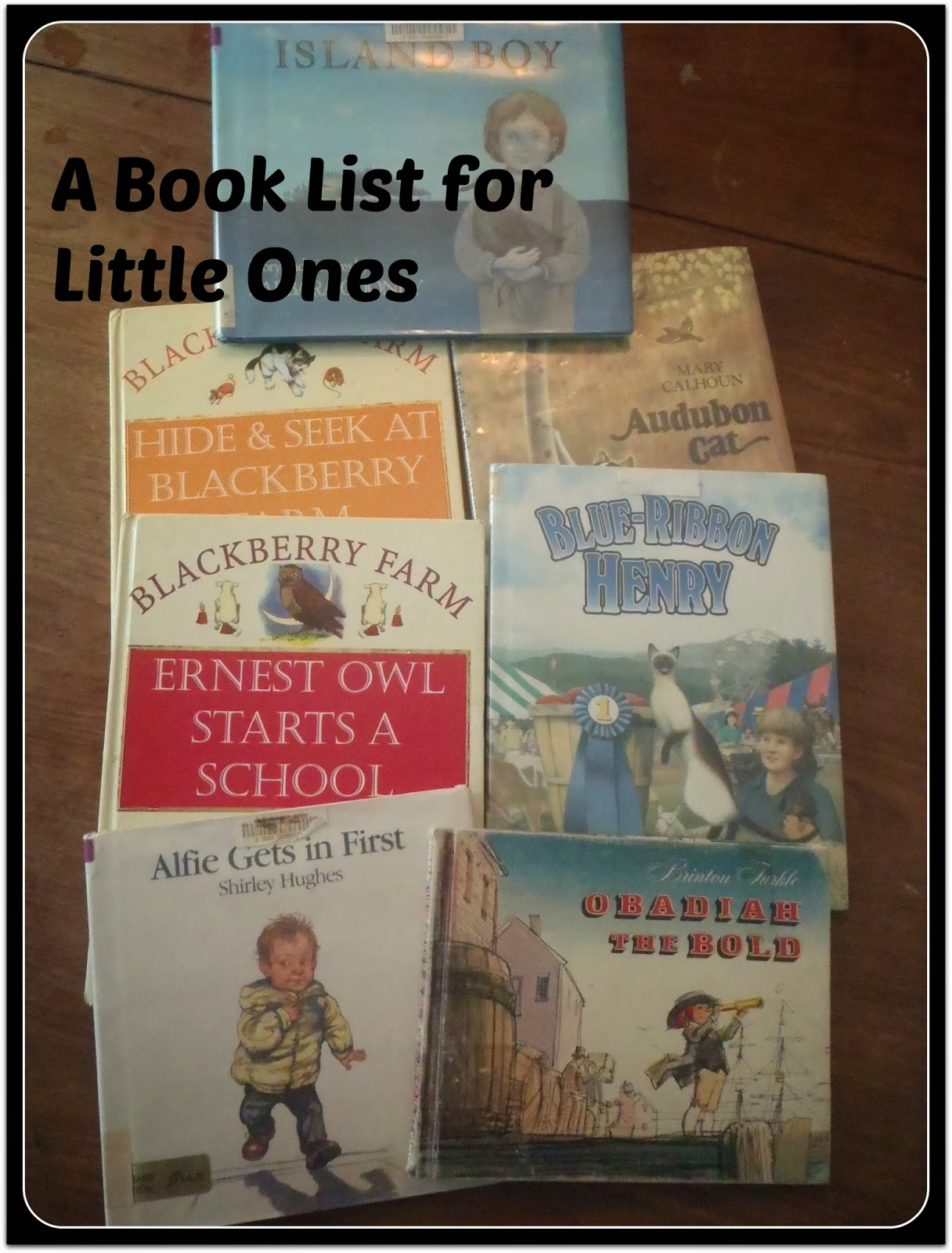 A Book List for Little Ones