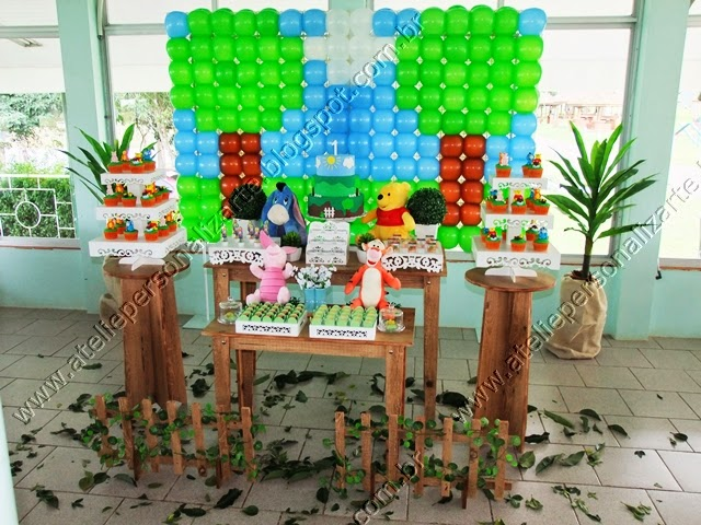 decoracao de festa infantil ursinho pooh