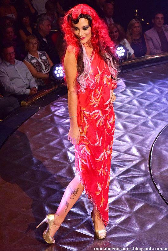 Roberto Piazza vestidos de fiesta colección otoño invierno 2015. 40 Años con la Moda Argentina.