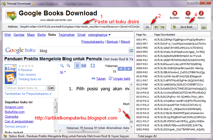 Using Google Book Downloader