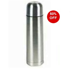 Stainless Steel Flask (500 ml) worth Rs.299 for Rs.100 Only (Including Shipping Charges)