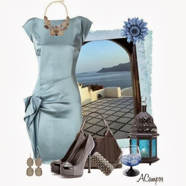 Dress, Hat, Earrings, Bag by ACampos.....