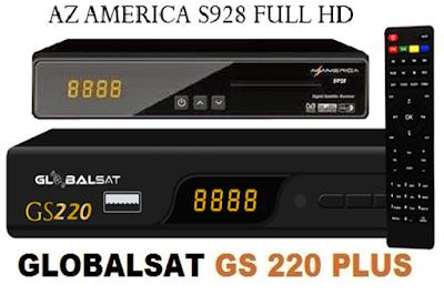 Azamerica S928 em Globalsat GS220 Atualização Janeiro 2016