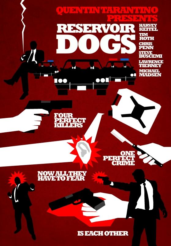 Filmes de Quentin Tarantino - posters de cinema minimalistas - Reservoir Dogs