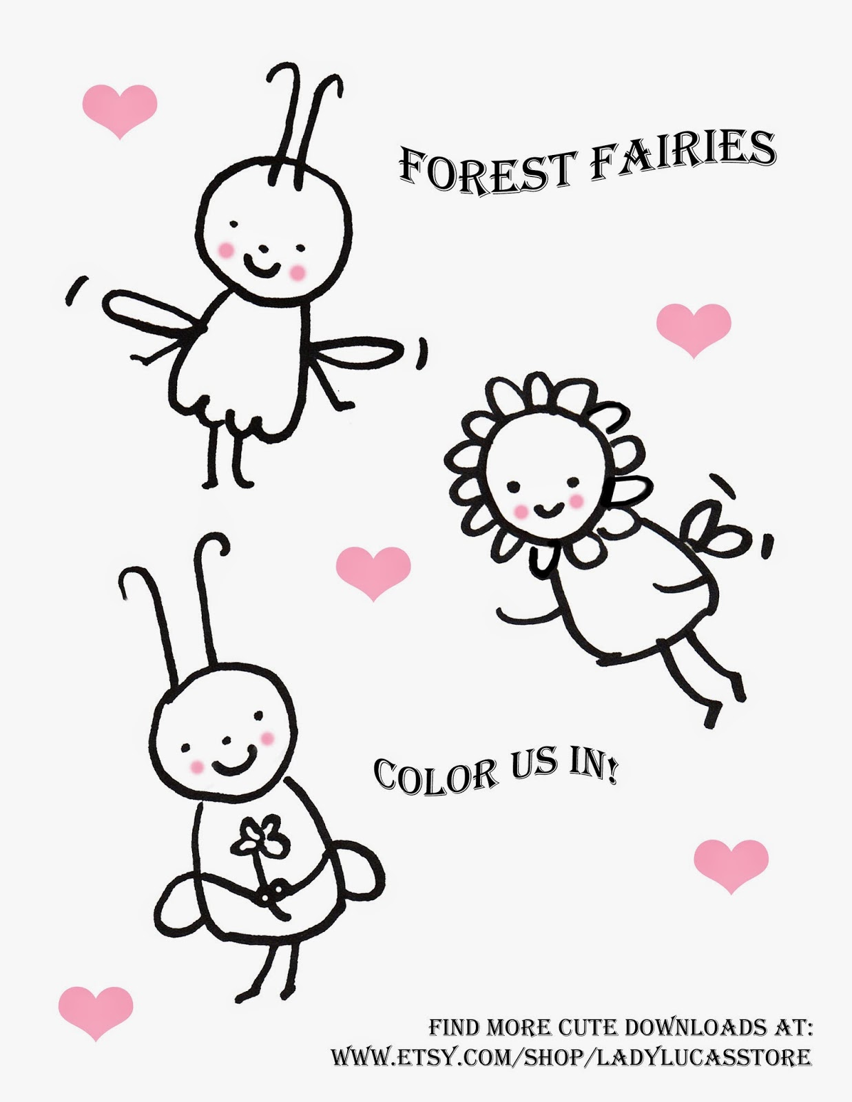 fairies free coloring page